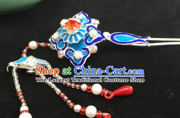 Chinese Ancient Princess Court Tassel Hairpins Traditional Beijing Opera Diva Headwear Hair Accessories for Adults