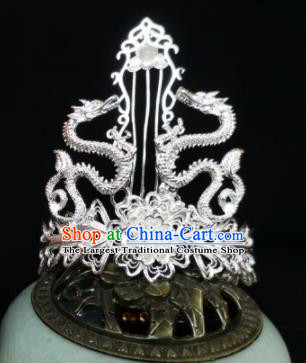 Chinese Ancient Swordsman Dragon Hairdo Crown Hairpins Traditional Hanfu Hair Accessories for Men