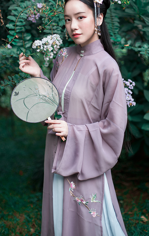 Traditional Chinese Nobility Lady Purple Hanfu Dress Ancient Ming Dynasty Embroidered Historical Costume for Women