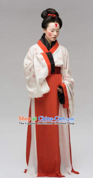 Chinese Ancient Three Kingdoms Period Hanfu Dress Traditional Court Princess Replica Costume for Women