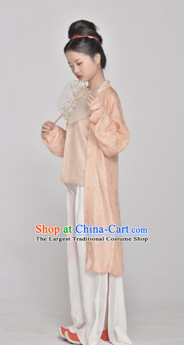 Chinese Ancient Southern Song Dynasty Young Lady Replica Costume Traditional Hanfu Dress for Women