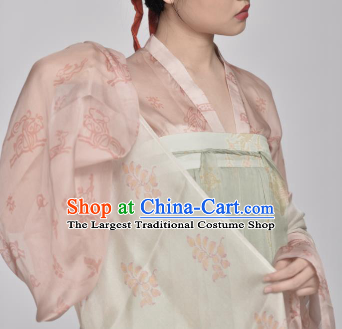 Chinese Ancient Tang Dynasty Imperial Consort Replica Costume Traditional Court Lady Hanfu Dress for Women