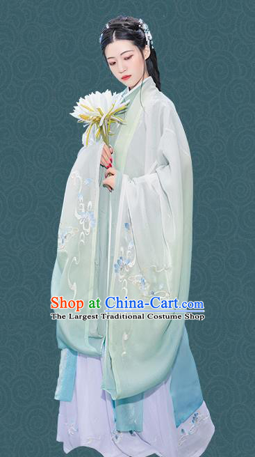 Chinese Traditional Imperial Consort Hanfu Dress Ancient Jin Dynasty Court Princess Embroidered Historical Costume for Women