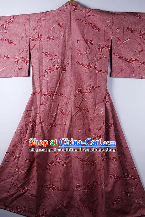 Asian Japanese Ceremony Clothing Printing Amaranth Kimono Traditional Japan National Yukata Costume for Men
