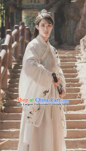 Chinese Ancient Northern and Southern Dynasties Nobility Childe Hanfu Clothing Traditional Swordsman Replica Costume for Men