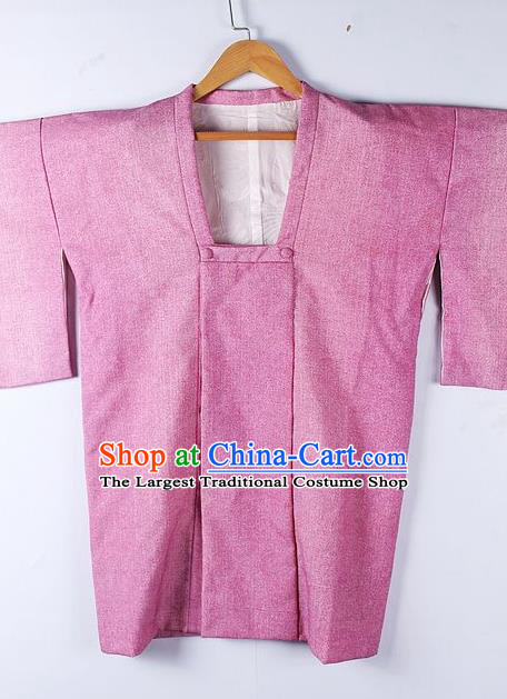 Asian Japanese Clothing Classical Pattern Rosy Haori Coat Kimono Traditional Japan National Costume for Men