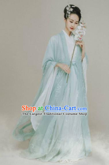 Ancient Chinese Jin Dynasty Court Princess Hanfu Dress Traditional Legend Goddess Replica Costume for Women