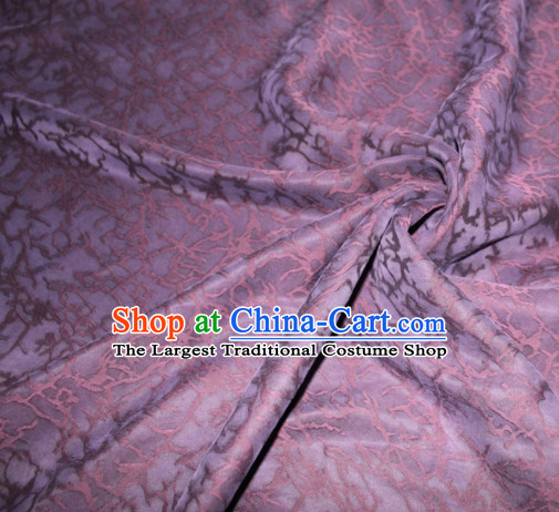 Asian Chinese Cheongsam Classical Pattern Purple Gambiered Guangdong Gauze Satin Drapery Brocade Traditional Brocade Silk Fabric