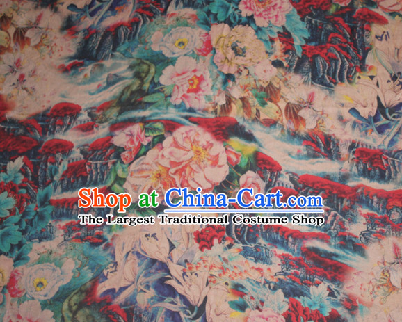 Chinese Traditional Cheongsam Classical Camellia Pattern Gambiered Guangdong Gauze Asian Satin Drapery Brocade Silk Fabric