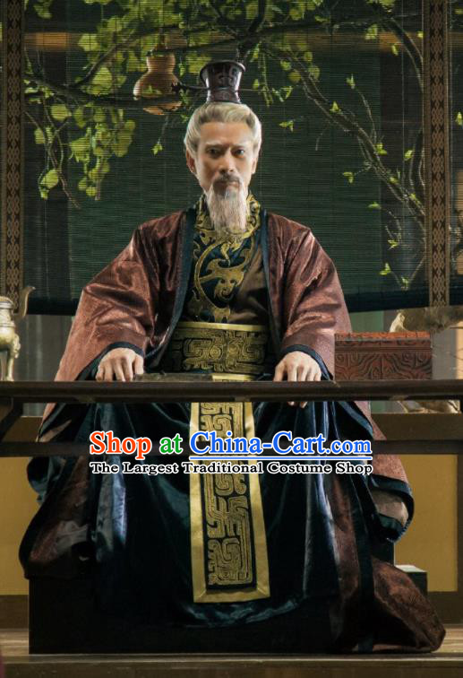 Chinese Ancient Hanfu Clothing The Legend of Deification Zhou Dynasty Wen Emperor Ji Chang Historical Costume and Headpiece