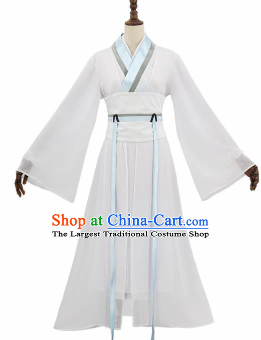 Chinese Cosplay Customized Costume Ancient Film Madam White Snake Swordswoman Dress for Women