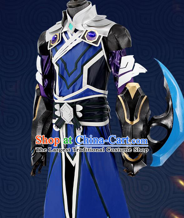 Customized Chinese Cosplay Knight Costume Body Armor Ancient Swordsman Clothing for Men