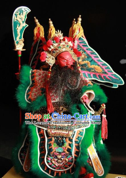 Traditional Chinese Handmade General Guan Yu Puppet String Puppet Wooden Image Marionette Puppets Arts Collectibles