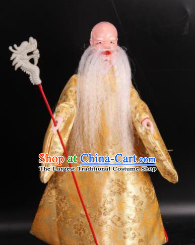 Traditional Chinese Handmade Old Men Puppet String Puppet Wooden Image Marionette Puppets Arts Collectibles