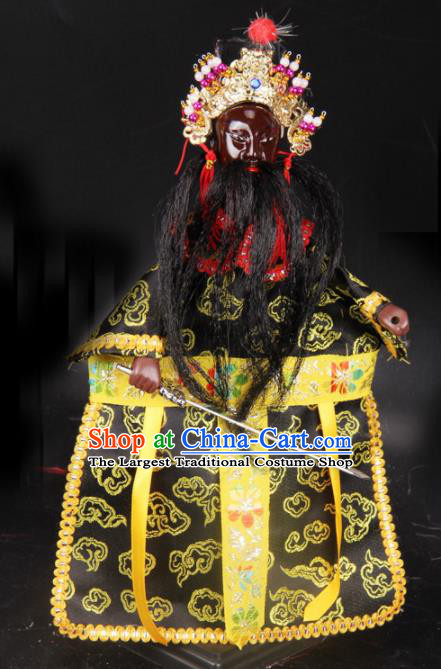 Traditional Chinese Handmade King of Hell Puppet Marionette Puppets String Puppet Wooden Image Arts Collectibles