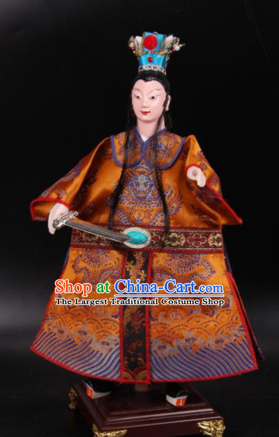 Traditional Chinese Handmade Emperor Li Shimin Puppet Marionette Puppets String Puppet Wooden Image Arts Collectibles