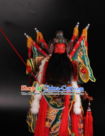 Traditional Chinese Guan Yu Marionette Puppets Handmade Puppet String Puppet Wooden Image Arts Collectibles