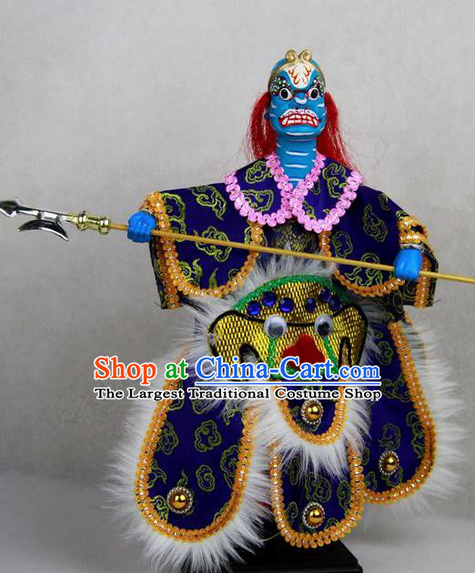 Chinese Traditional General Lion Marionette Puppets Handmade Puppet String Puppet Wooden Image Arts Collectibles