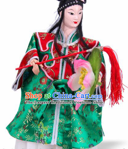 Traditional Chinese Eight Immortings Lan Caihe Marionette Puppets Handmade Puppet String Puppet Wooden Image Arts Collectibles