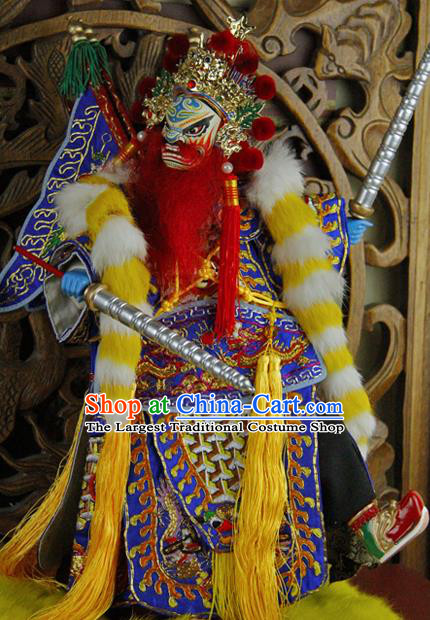 Chinese Traditional General Marionette Puppets Handmade Puppet String Puppet Wooden Image Arts Collectibles