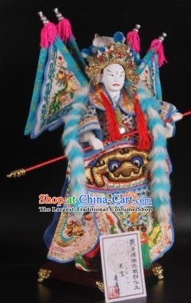 Traditional Chinese General Zhao Yun Marionette Puppets Handmade Puppet String Puppet Wooden Image Arts Collectibles