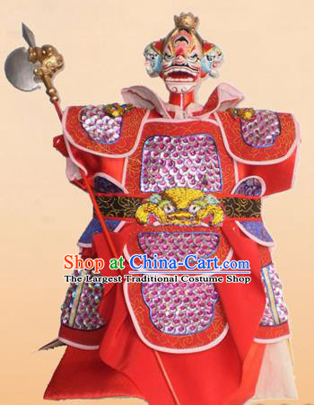 Chinese Traditional Beijing Opera Takefu Marionette Puppets Handmade Puppet String Puppet Wooden Image Arts Collectibles