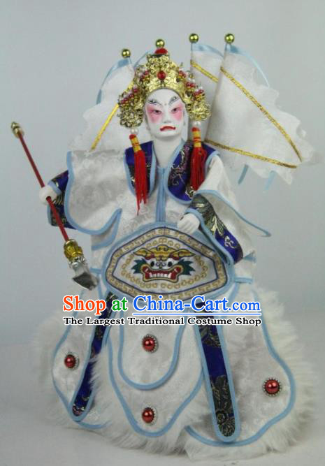 Traditional Chinese General Xue Dingshan Marionette Puppets Handmade Puppet String Puppet Wooden Image Arts Collectibles