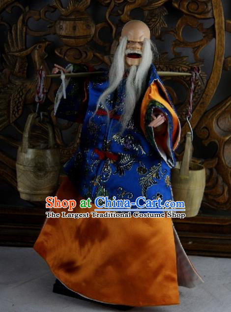 Traditional Chinese Old Monk Marionette Puppets Handmade Puppet String Puppet Wooden Image Arts Collectibles