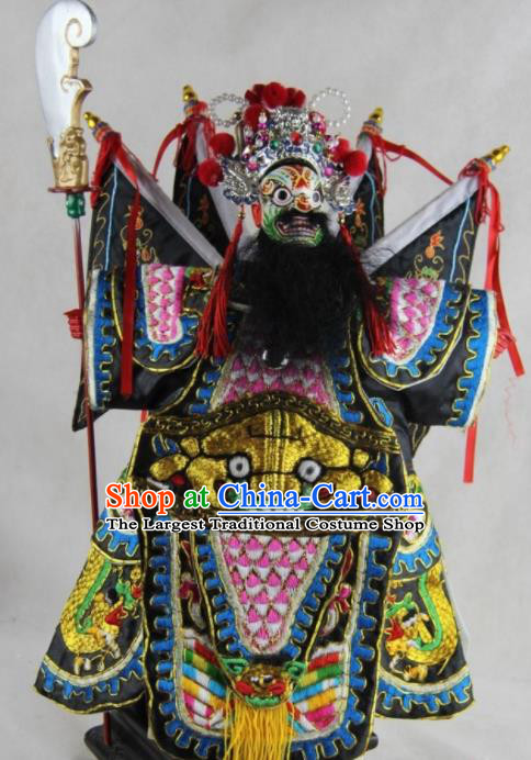 Traditional Chinese General Marionette Puppets Handmade Puppet String Puppet Wooden Image Arts Collectibles