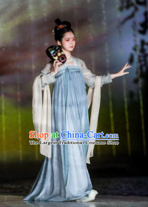 Chinese Traditional Tang Dynasty Court Maid Hanfu Dress Ancient Palace Maidservants Replica Costumes for Women