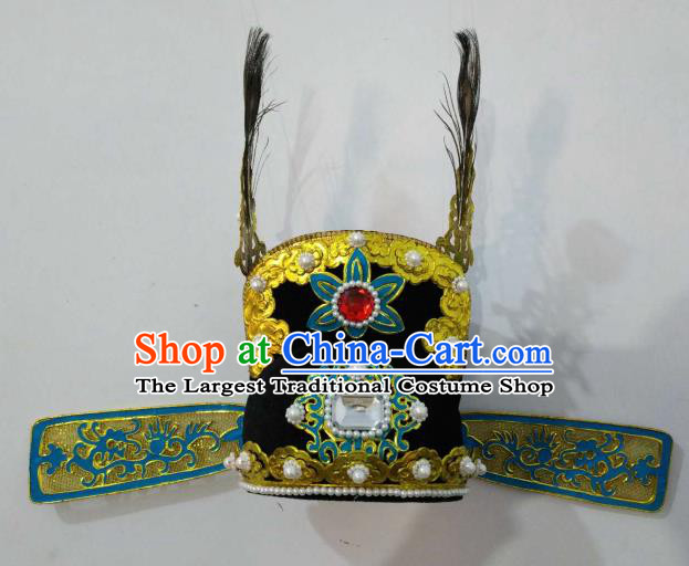 Traditional Chinese Beijing Opera Niche Hat Ancient Number One Scholar Headwear for Men