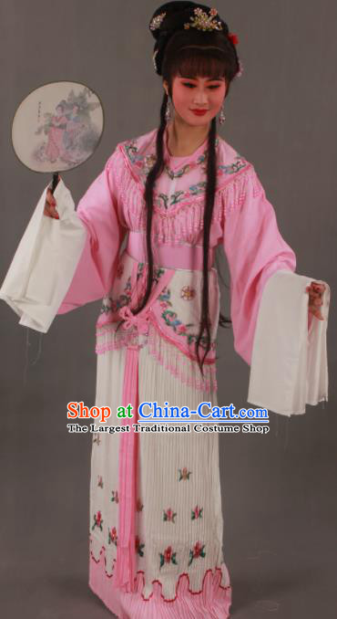 Traditional Chinese Peking Opera Actress Pink Dress Ancient Court Princess Costumes for Women