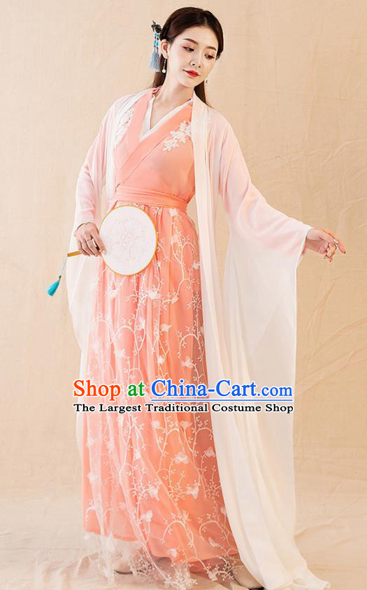 Traditional Chinese Tang Dynasty Imperial Consort Hanfu Dress Ancient Drama Court Replica Costumes for Women