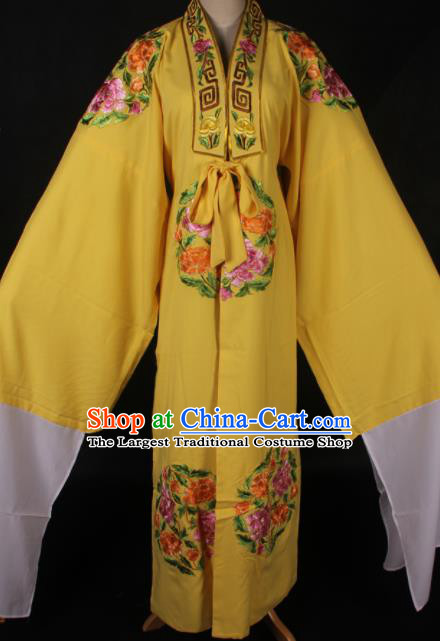 Traditional Chinese Shaoxing Opera Niche Embroidered Yellow Gown Ancient Gifted Scholar Costume for Men
