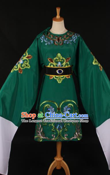 Chinese Traditional Shaoxing Opera Dowager Countess Green Dress Ancient Peking Opera Costume for Women