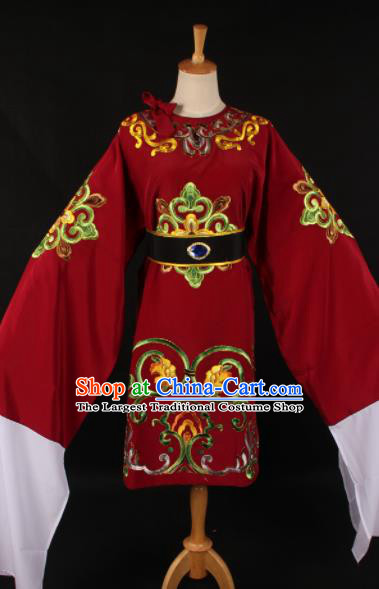 Chinese Traditional Shaoxing Opera Dowager Countess Red Dress Ancient Peking Opera Costume for Women
