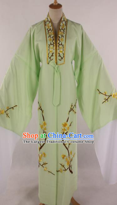 Traditional Chinese Shaoxing Opera Niche Light Green Robe Ancient Childe Scholar Costume for Men
