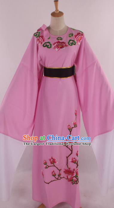 Traditional Chinese Shaoxing Opera Gifted Scholar Niche Embroidered Pink Robe Ancient Nobility Childe Costume for Men