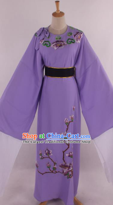 Traditional Chinese Shaoxing Opera Gifted Scholar Niche Embroidered Purple Robe Ancient Nobility Childe Costume for Men