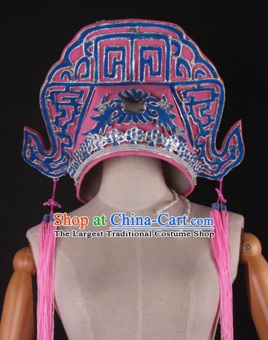Traditional Chinese Shaoxing Opera Niche Pink Hat Ancient Gifted Scholar Headwear for Men