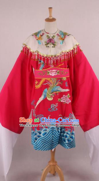 Chinese Beijing Opera Imperial Consort Rosy Dress Ancient Traditional Peking Opera Actress Costume for Women