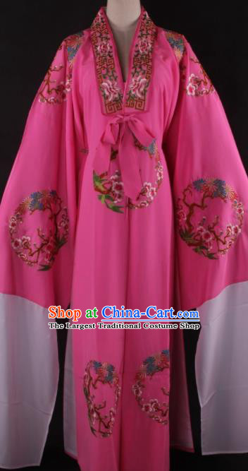 Traditional Chinese Shaoxing Opera Niche Gifted Scholar Rosy Robe Ancient Childe Costume for Men