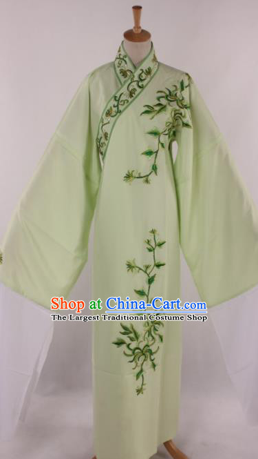 Traditional Chinese Shaoxing Opera Niche Embroidered Chrysanthemum Green Robe Ancient Scholar Nobility Childe Costume for Men