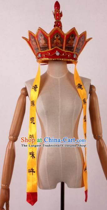 Traditional Chinese Shaoxing Opera Monk Hat Ancient Journey to the West Monk Tang Headwear for Men