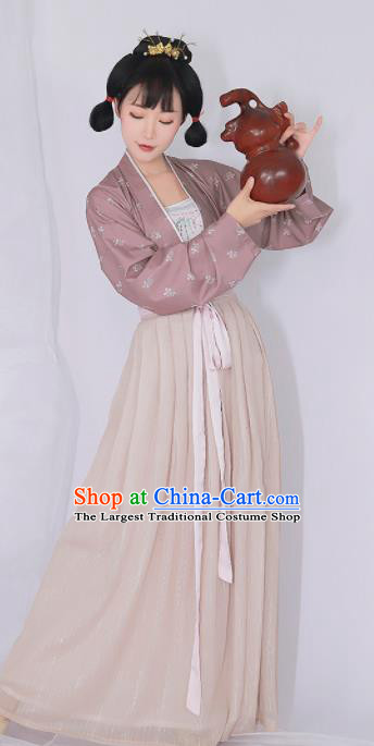 Chinese Ancient Drama Court Maid Hanfu Dress Traditional Tang Dynasty Palace Lady Replica Costumes for Women