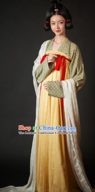 Chinese Ancient Drama Las Meninas Hanfu Dress Traditional Tang Dynasty Court Maid Replica Costumes for Women