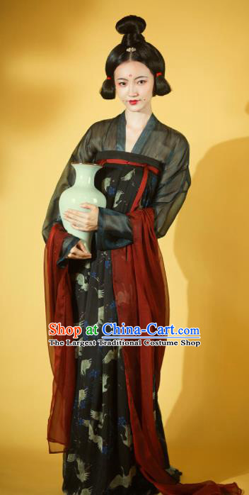 Chinese Ancient Drama Palace Lady Hanfu Dress Traditional Tang Dynasty Las Meninas Replica Costumes for Women