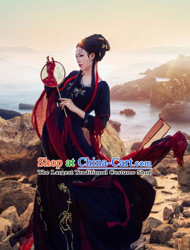 Chinese Ancient Drama Imperial Consort Hanfu Dress Traditional Tang Dynasty Las Meninas Replica Costumes for Women