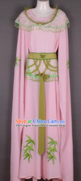 Professional Chinese Beijing Opera Young Lady Pink Dress Ancient Traditional Peking Opera Costume for Women
