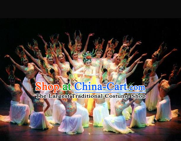 Traditional Chinese Classical Dance Guo Se Tian Xiang Costume Beautiful Dance Dress for Women